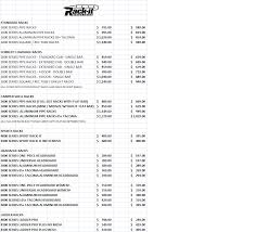 Lumber Price List by 7 Rack It Price Sheet U2013 Fleet Services
