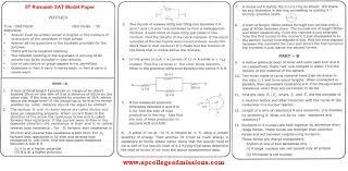 iit ramaiah sat model papers exam on 29th april 2012