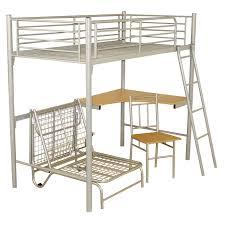 bedroom metal loft bed with corner desk expansive cork picture