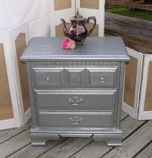 Gray Nightstands Really Outstanding Old Fashioned Gray Nightstand Designs