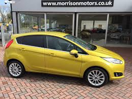 used ford fiesta titanium x yellow cars for sale motors co uk