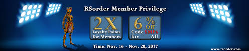 runescape gold with 2x loyalty points 6 on rsorder for