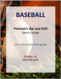 baseball flyer template png