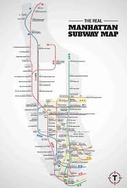 manhattan on map judgemental nyc subway map thrillist