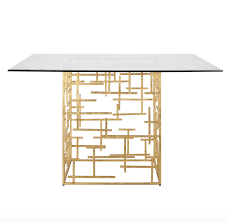worlds away daniel gold leaf dining table base only matthew izzo