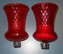 home interior votive cups set 2 home interior homco orange red honeycomb glass candle