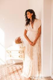 beige wedding dress lace bridal gowns vosoi