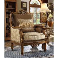 Upholstered Accent Chair 610 Homey Design Upholstery Accent Chair Victorian European