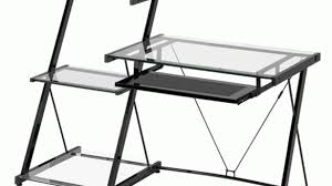 Z Line Designs Computer Desk Metal Glass Desk Popular Z Line Designs Nero Modern And Bookcase