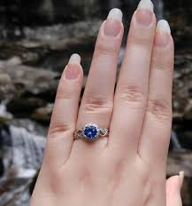 benitoite engagement ring sapphire engagement ring help share pics of your beautiful rings
