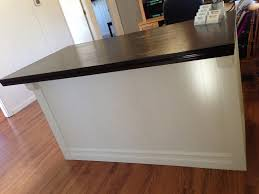 Stand Up Reception Desk Diy Custom Reception Counter Before U0026 After