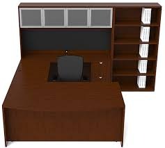 Executive Desk With Hutch Jade Executive U Shape Bow Front Desk Hutch Bookcase