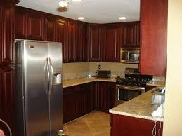 Cherry Cabinet Kitchens Aknsa Com Beautiful Small Kitchen Apartment Inspir
