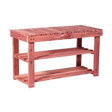 Shoe Storage With Seat Or Bench - amazon com cedarfresh 2 tier cedar shoe rack and seat bench 31 5