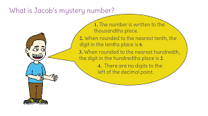 place value mystery number 10 mystery number using understanding of place value to