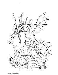 dragon sleeping beauty printable coloring pages kids
