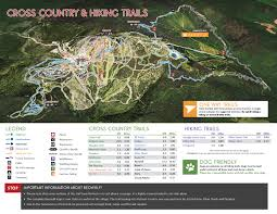 Virginia Capital Trail Map by Xc U0026 Hiking Trails Map Silver Star Mountain Resort