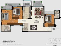 3 bedroom apartment flat for rent in dlf regal gardens sector