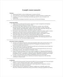 Strong Resume Summary Career Summary Examples For Resume Resume Example And Free