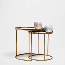 meubles votre maison table gigogne ronde lot de 2 meubles d u0027appoint zara home