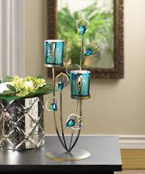 peacock home decor peacock plume candle holder wholesale at