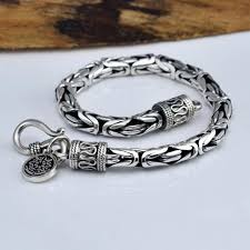 metal men bracelet images V ya genuine 100 real pure 925 sterling silver thick men bracelet jpg