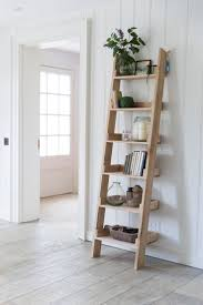 decorating 5 tier leaning ladder shelf in black for home