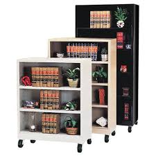 sturdy bookcase for heavy books sandusky lee heavy duty commercial mobile metal bookcase from