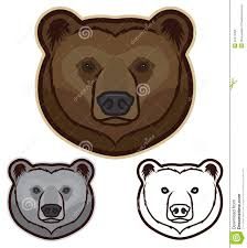 head clipart brown bear pencil and in color head clipart brown bear