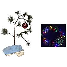 linus christmas tree productworks 24 inch peanuts brown musical