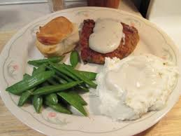 chicken fried veal w peppered white gravy mashed potatoes u2026 my