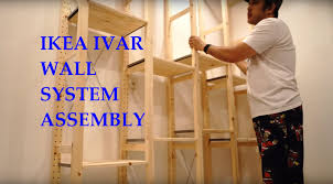 ikea ivar system shelves full assembly and review youtube