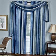 Modern Window Valance by Achim Ombre Curtain Scarf Blue 50