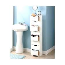 Freestanding Bathroom Furniture White Bathroom Cabinets And Storage Units Slim White Weave 3 Drawer