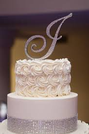w cake topper monogram wedding cake topper initial any letter