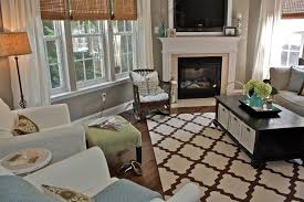 trellis rug in living room eclectic with gray paint color next to