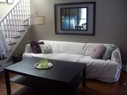 Pottery Barn Loose Fit Slipcover Transform An Ugly Sofa With A Dropcloth Slipcover Living Well On