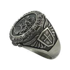 mens ring michael the archangel sterling silver 925 mens ring