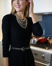 black necklace dress images How to dress up a simple lbd for the holidays memorandum nyc jpg