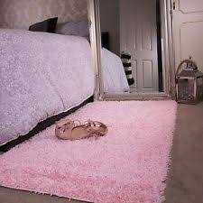 baby pink girls shaggy rug for living room bedroom house floor