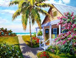 Conch House by Paintings Of Historic Houses U0026 Lighthouses By George K Salhofer