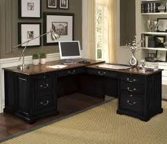 dark brown computer desk furniture minimal computer desk for home with dark brown and black