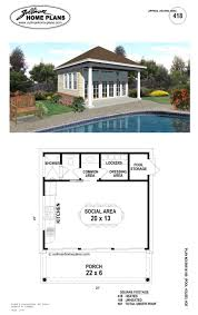 Home Plan Designs Jackson Ms by W1911 Pool House Plan Or Cabana House Plan Shower Room Outdoor
