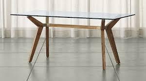 strut teak table crate and barrel