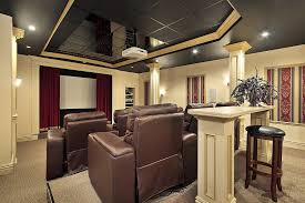 Home Theater Design Home Design Ideas - Living room with home theater design