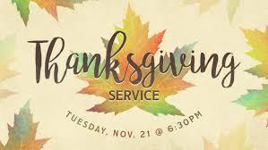 thanksgiving service faith baptist church
