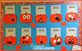 teaching with love and laughter pumpkin writing bulletin board