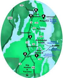 Seattle Ferry Map by Kitsap Wedding Tour