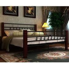 super king size metal bed frame slat furniture mahogany bedroom