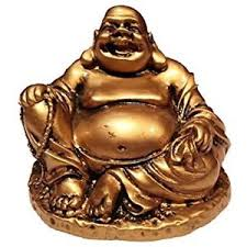 feng shui buddha gold color resin happy buddha statue laughing